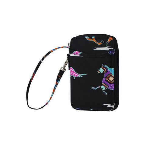 Stallion Wild Horse NGIL Canvas Wristlet Wallet