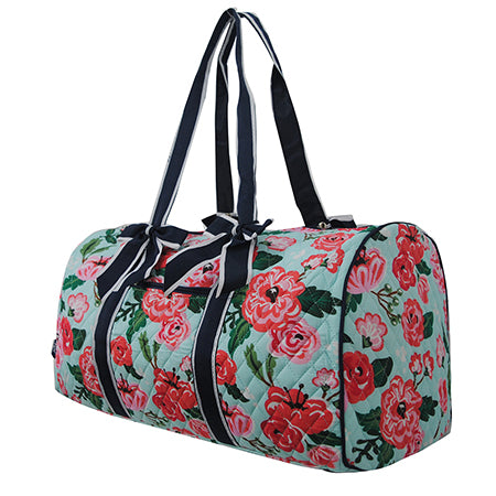 Floral Blossom NGIL Quilted Large Duffle Bag