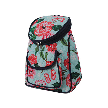 Floral Blossom Quilted Mini Backpack