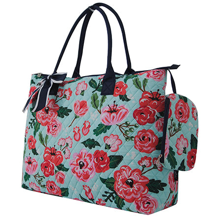 Floral Blossom NGIL Quilted Overnight Tote Bag