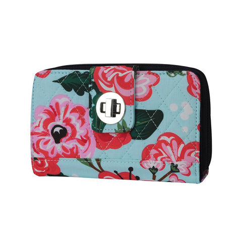 Floral Blossom NGIL Quilted Twist Lock Wallet