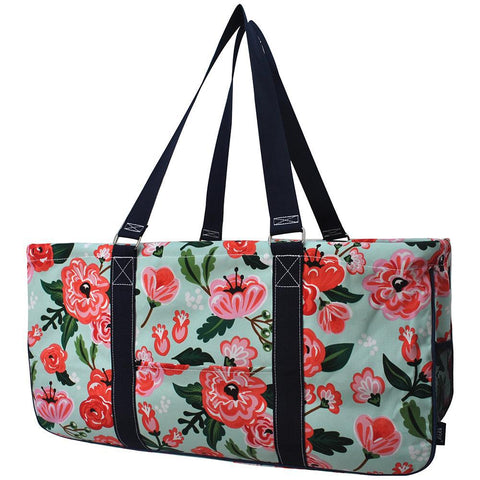 Monogram gift ideas, monogram tote for nurse, NGIL, personalized tote bag, teachers' gift in bulk, floral blossom storage bags, floral blossom storage basket,