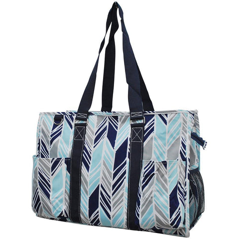 Caddy bag, Overnight Bag, personalized tote bags for women, personalized bags for teachers, personalized gift bag, nurse tote bag with pockets, student nurse bag and totes, best teacher accessory ideas, blue tote bag, blue and grey tote.