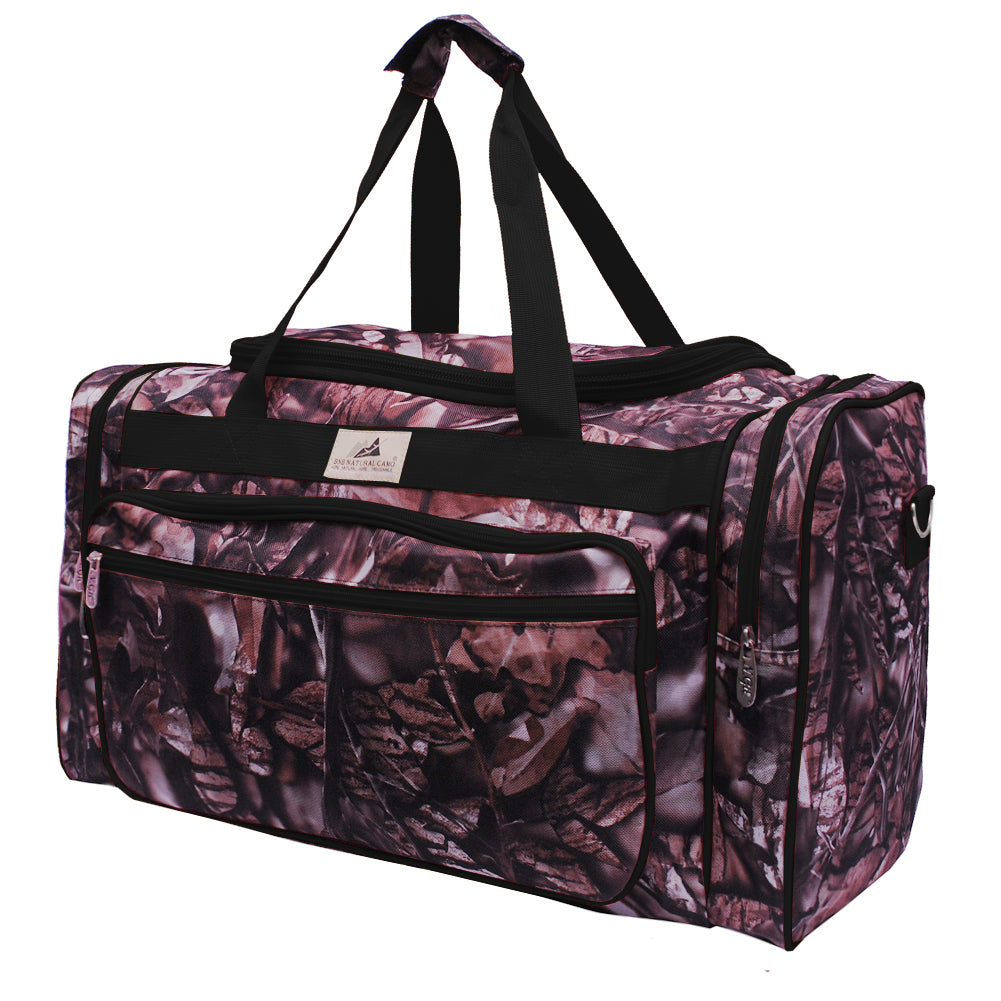 "BnB Natural Camo Black NGIL Canvas 23"" Duffle Bag"