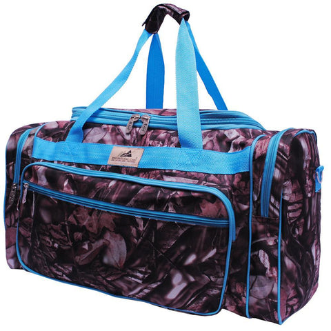 "BnB Natural Camo Turquoise NGIL Canvas 23"" Duffle Bag"