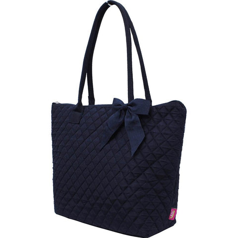 Solid Navy NGIL Quilted Tote Bag