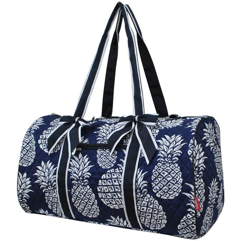 Southern Pineapple NGIL Quilted Large Duffle Bag