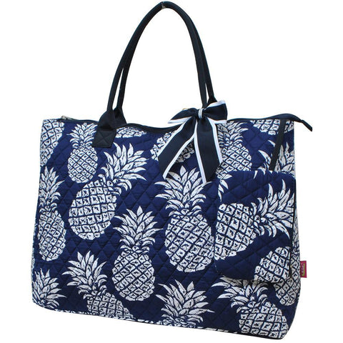 Southern Pineapple NGIL Quilted Overnight Tote Bag