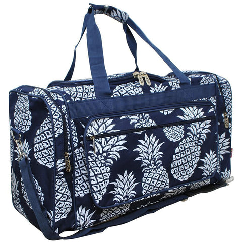 "Southern Pineapple NGIL Canvas 23"" Duffle Bag"