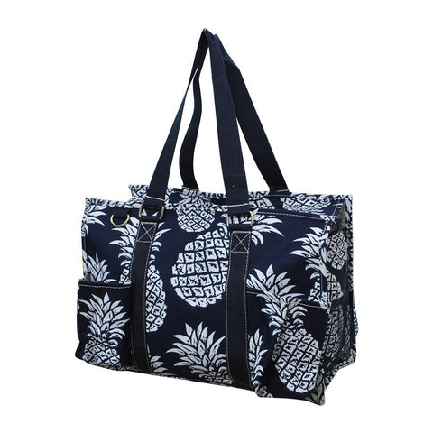 Southern Pineapple NGIL Zippered Caddy Organizer Tote Bag