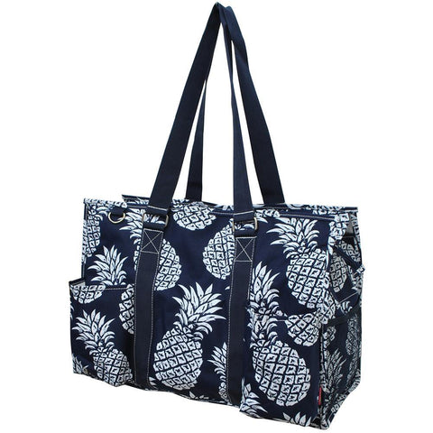 Southern Pineapple NGIL Zippered Caddy Large Organizer Tote Bag