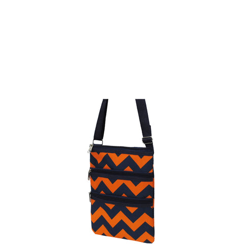SALE! Navy and Orange Chevron NGIL Messenger Hipster Bag