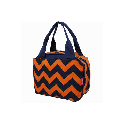 SALE ! Chevron Navy/Orange NGIL Insulated Lunch Bag