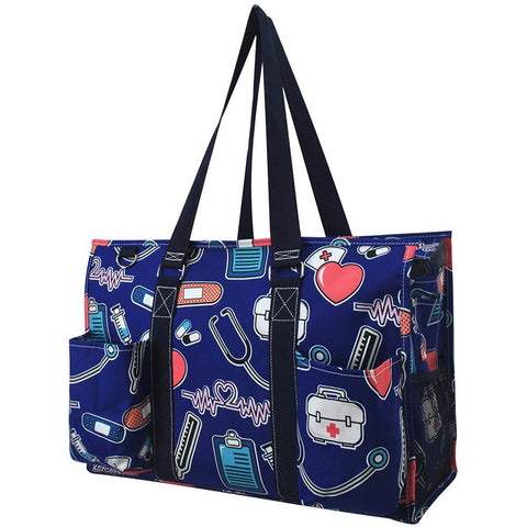 Nurse NGIL Zippered Caddy Large Organizer Tote Bag