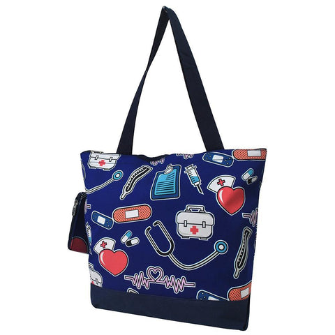 NGIL Brand, Personalized Travel Bag, monogram gift ideas, personalized accessories for mom, gifts for mom, nice tote bags for work, nice canvas tote bag, cute blue nurse tote, blue nursing tote bag, nice women's tote bag, ngil tote bags.