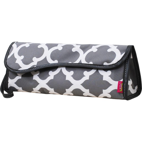 Geometric Clover NGIL Insulated Curling Iron Bag for Traveling