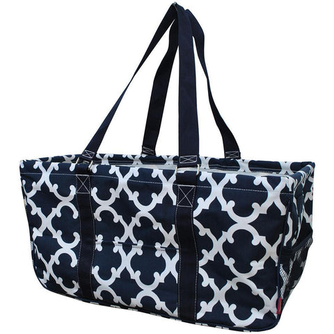 NGIL, Monogram gifts for her, monogram tote for teachers, personalized tote, teacher gifts, geometric tote, geometric print tote bag, geometric storage basket,