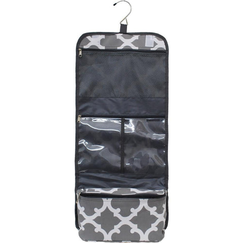 Geometric Clover Grey NGIL Traveling Toiletry Bag