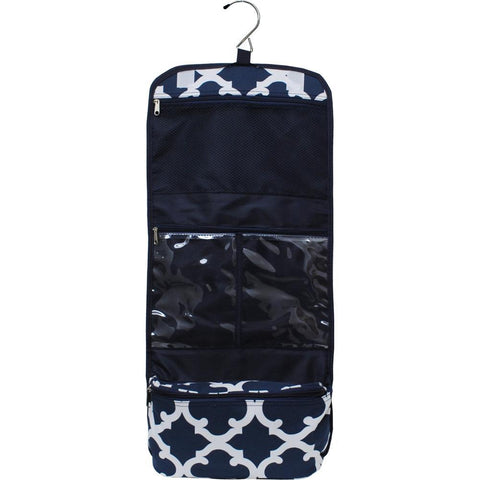 Geometric Clover Navy NGIL Traveling Toiletry Bag