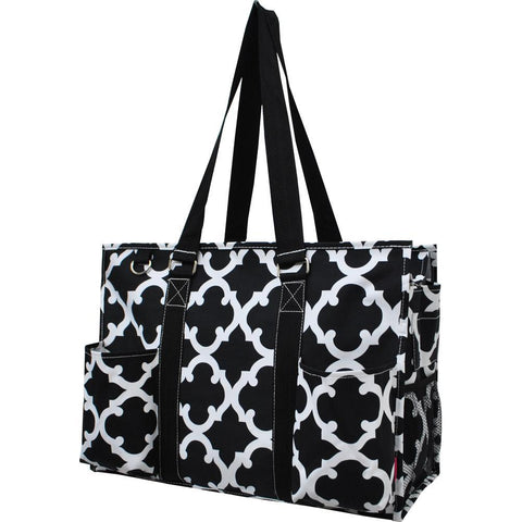 Zippered Caddy, monogramable bags, personalized tote teacher, personalized tote bag for her, nurse tote bag with zipper, Student nurse tote bag, student nurse bag, nurse bags and accessories, student nurse gift bags, monogramable, black tote bag.