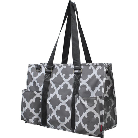 Monogramable Tote, Large Tote Bag, personalized tote bag with zipper, personalized bags bulk, monogramable gifts wholesale, nurse tote bags, student nurse gift for women, teacher gift personalized, Gray tote bag, grey bag, grey and white tote bag.