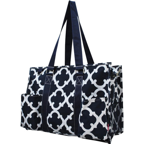 Personalized Bag, Monogrammed Zippered Tote Bag, personalized tote bags wholesale, personalized bags for nurses, personalized gifts for her, nurse tote bag personalized, teacher gift bag, geometric clover print.