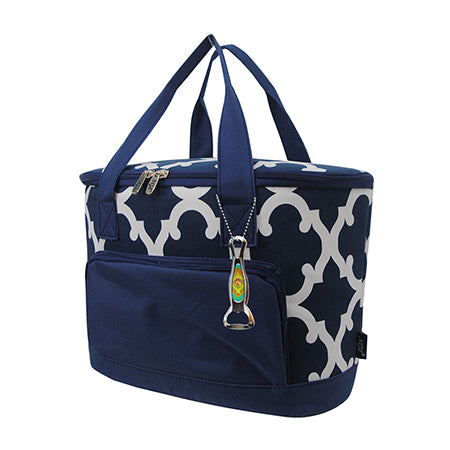 Geometric Clover Navy NGIL Medium Size Cooler Bag