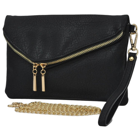 Black NGIL Faux Leather Envelope Crossbody / Clutch