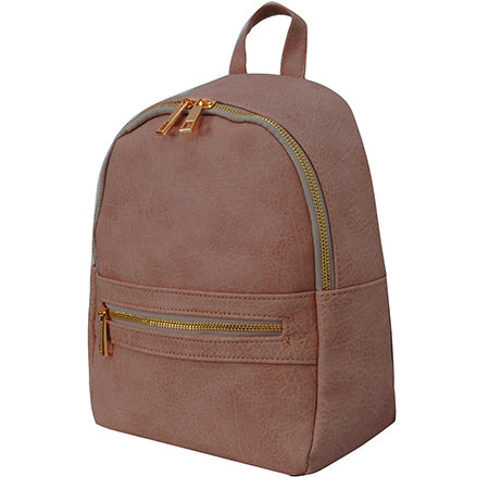 Baby Pink NGIL Faux Leather Mini Backpack