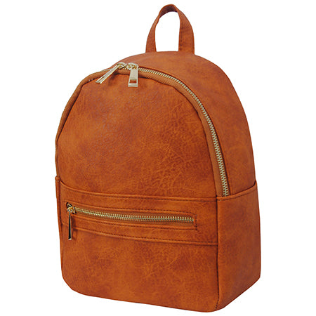 Dark Orange NGIL Faux Leather Mini Backpack