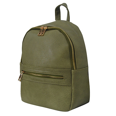 Olive NGIL Faux Leather Mini Backpack