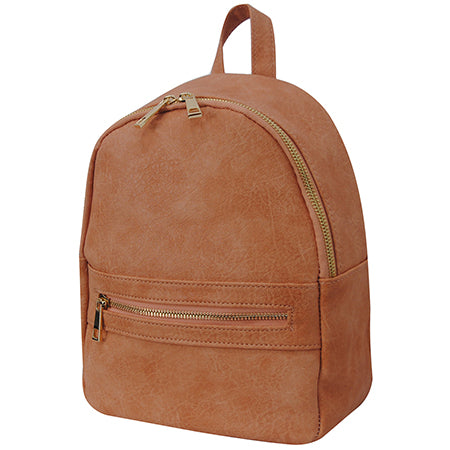 Peach NGIL Faux Leather Mini Backpack