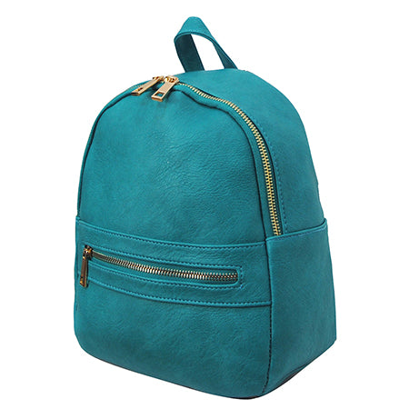 Turquoise NGIL Faux Leather Mini Backpack