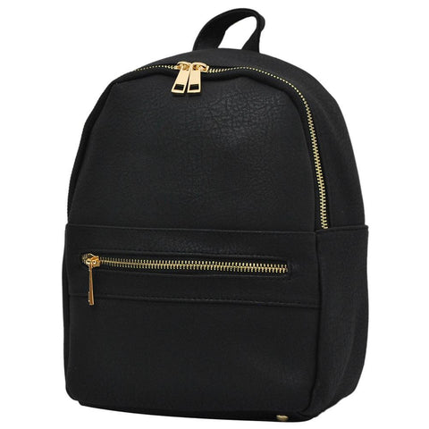 Black NGIL Faux Leather Mini Backpack
