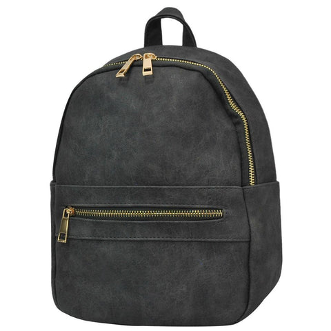 Dark Grey NGIL Faux Leather Mini Backpack