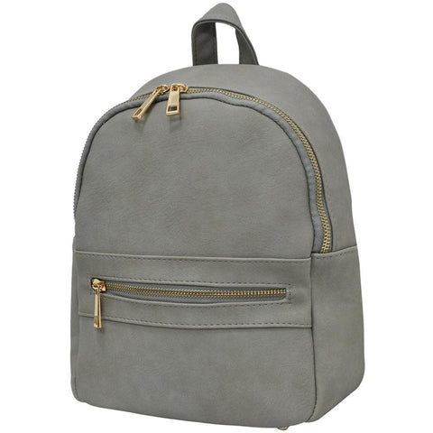 Gray NGIL Faux Leather Mini Backpack