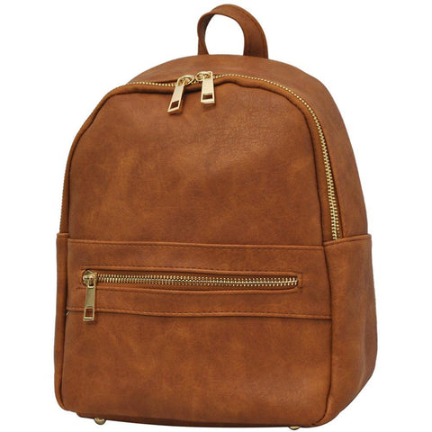 Light Brown NGIL Faux Leather Mini Backpack