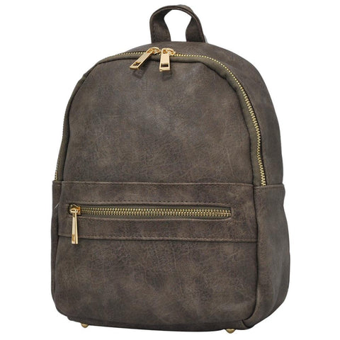 Taupe Gray NGIL Faux Leather Mini Backpack
