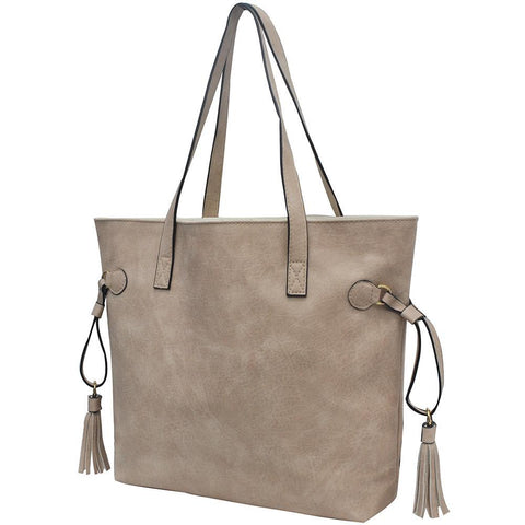 Sepia NGIL Faux Leather Side Tassel Shoulder Bag