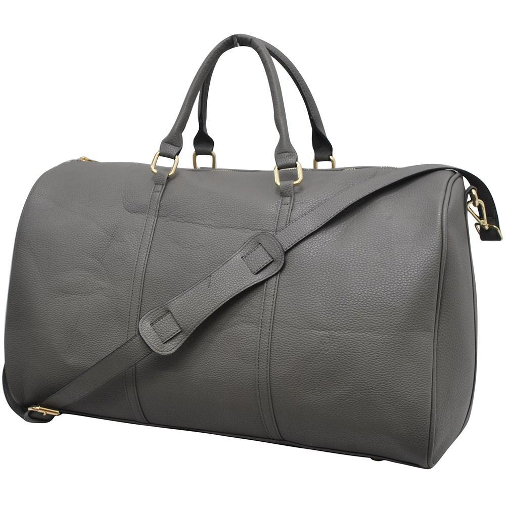 Dark Gray NGIL Faux Leather Duffle Bag