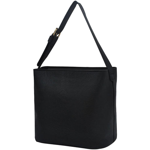 Black NGIL Faux Leather Hobo Bag