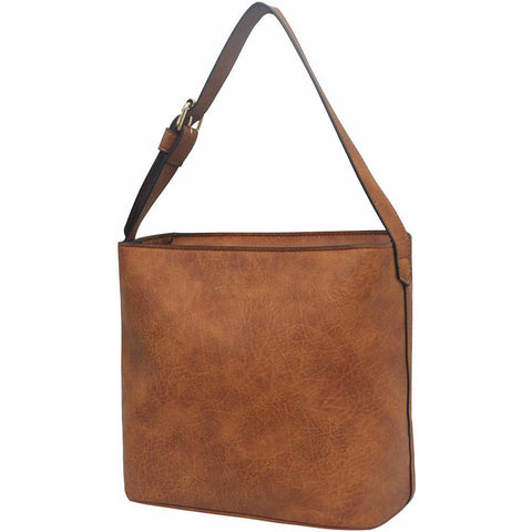 Light Brown NGIL Faux Leather Hobo Bag