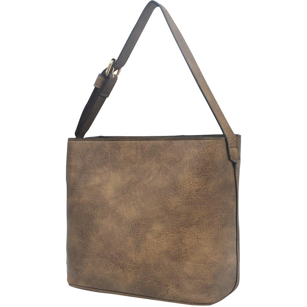Taupe Gray NGIL Faux Leather Hobo Bag