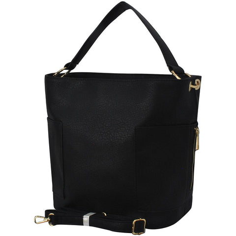 Black Faux Leather NGIL Handbag
