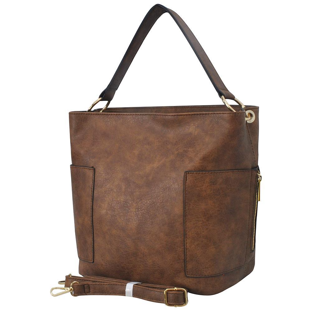 Brown Faux Leather NGIL Handbag