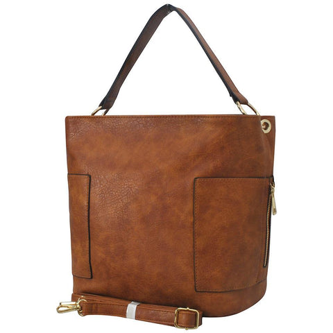 Copy of Brown Faux Leather NGIL Handbag