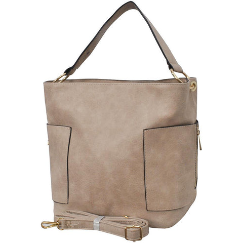 Sepia Faux Leather NGIL Handbag