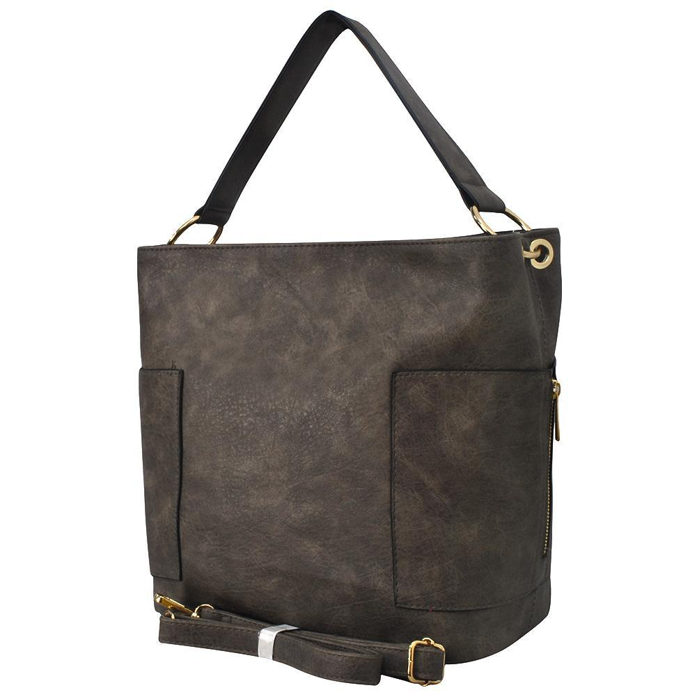 Taupe Gray Faux Leather NGIL Handbag