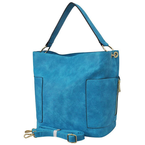 Turquoise Faux Leather NGIL Handbag