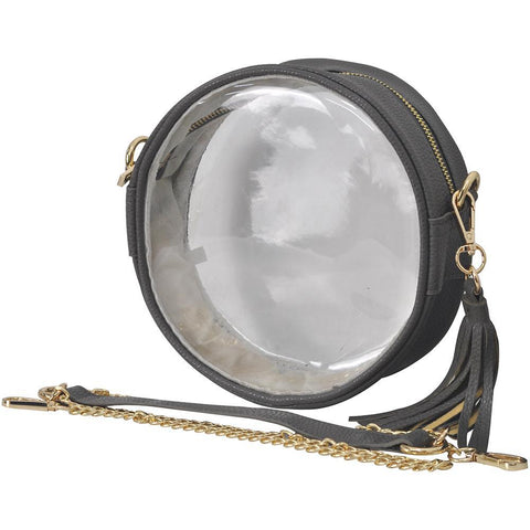 Dark Gray College Clear Crossbody NGIL Stadium Bag